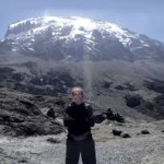 joe in front of kilimanjaro